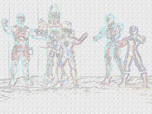 Robot Art Print featuring the photograph Power by Beto Machado