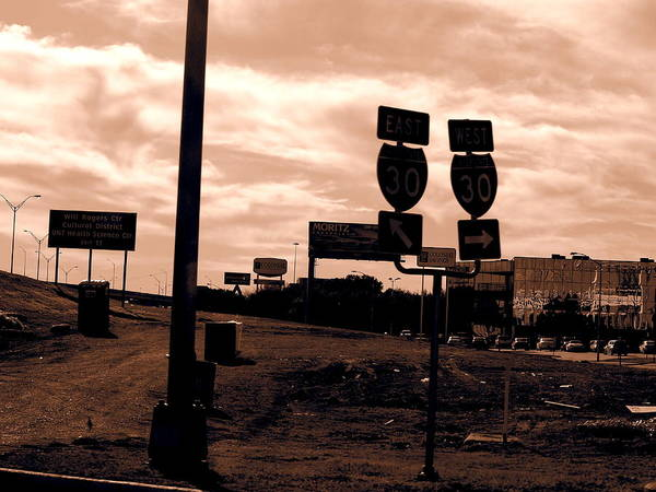 I-30 Art Print featuring the photograph 30w And 30e by Judge Howell