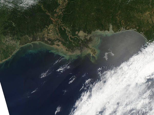 Oil Spill Print featuring the photograph Gulf Oil Spill, April 2010 by Nasa