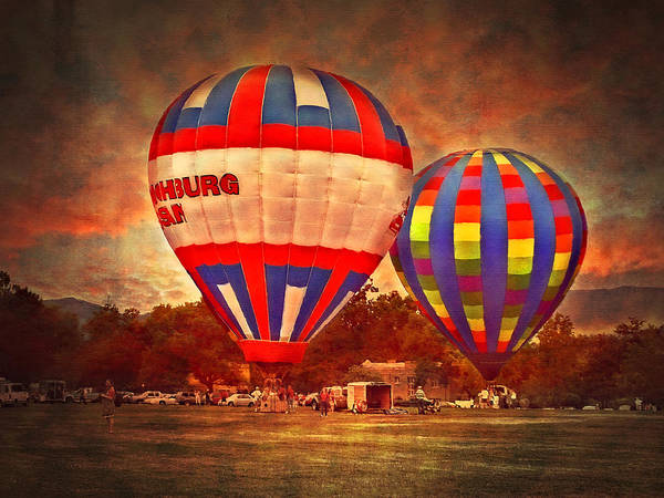Balloons Art Print featuring the photograph A Day At The Rally by Kathy Jennings