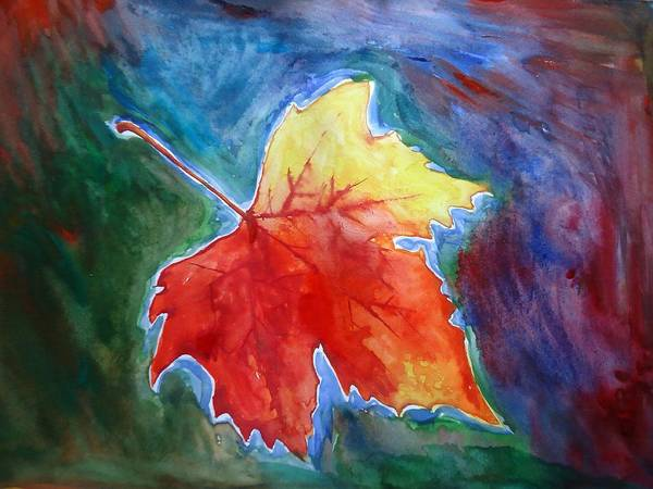 Shakhenabat Art Print featuring the painting Abstract Autumn by Shakhenabat Kasana