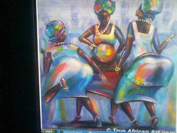 Art Print featuring the painting African Women by John