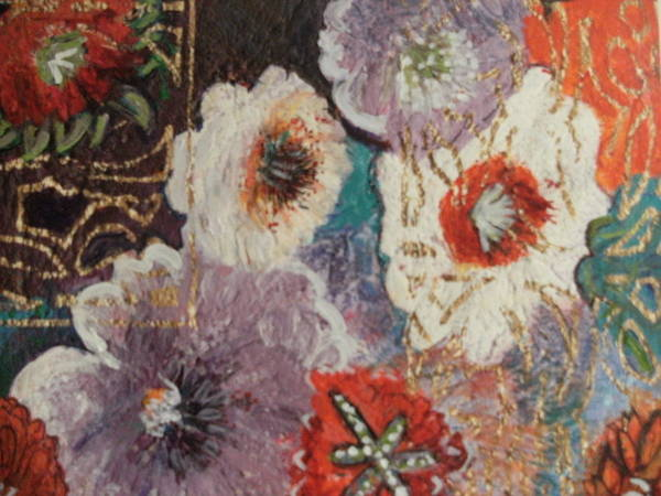 Flowers Art Print featuring the painting Afternoon Imagination by Anne-Elizabeth Whiteway
