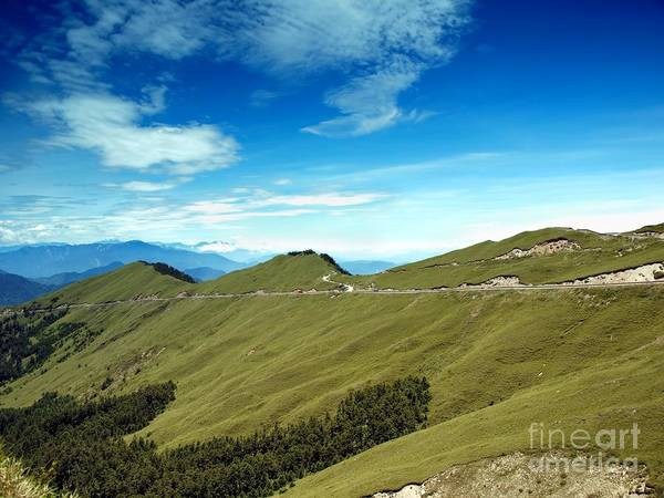 Mountains Art Print featuring the photograph Alpine High Altitude Road In Taiwan by Yali Shi