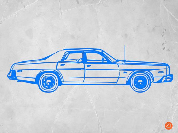 Auto Print featuring the digital art American Car by Naxart Studio