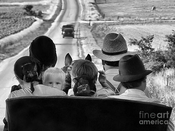 Amish Family Print featuring the photograph Amish Family Outing II by Julie Dant