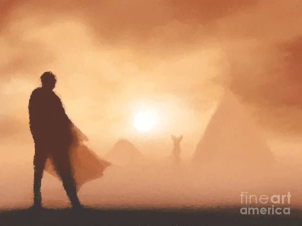 Fantasy Art Print featuring the painting Ancient Desert by Pixel Chimp