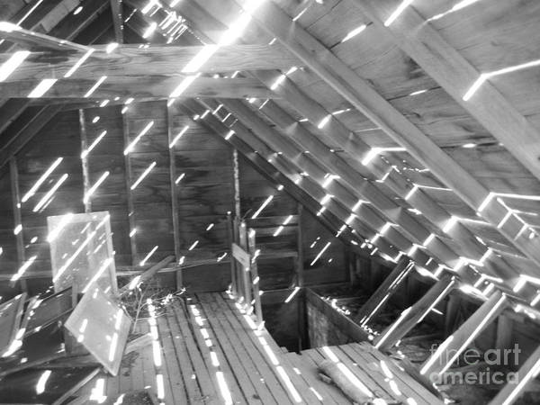 Attic Art Print featuring the photograph Attic Light by Julie Lueders