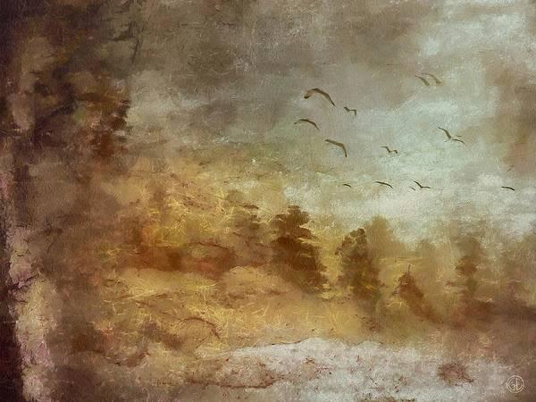 Landscape Art Print featuring the digital art Autumn Dreams by Gun Legler