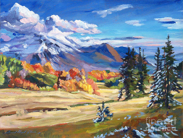 Landscape Art Print featuring the painting Autumn In The Foothills by David Lloyd Glover