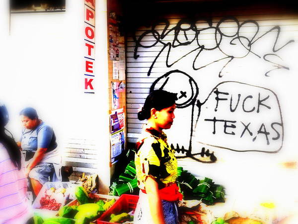 Bali Art Print featuring the photograph Balinese Tagging Texas by Funkpix Photo Hunter