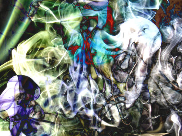 Smoke Dementia Art Print featuring the photograph Bamboo Screaming Number One Edit F by Nawfal Nur