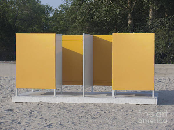 Beach Art Print featuring the photograph Beach Dressing Rooms by Jaak Nilson