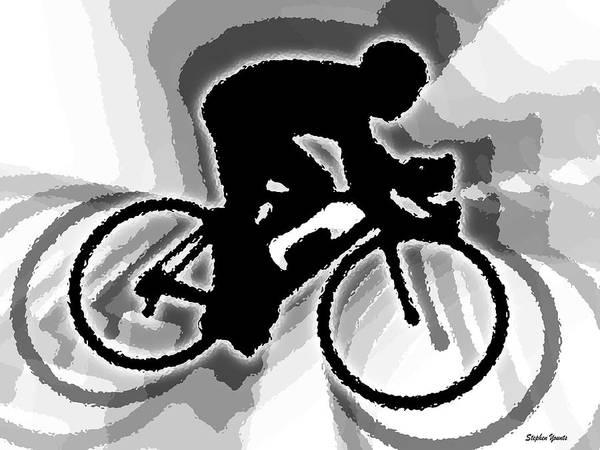 Bike Art Print featuring the digital art Bike by Stephen Younts
