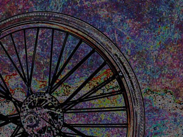 Color Photo Art Print featuring the digital art Bike Wheel 2 by J erik Leiff