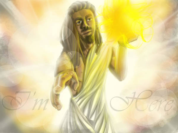 Jesus Art Print featuring the digital art Black Jesus by Quinetta Middlebrooks
