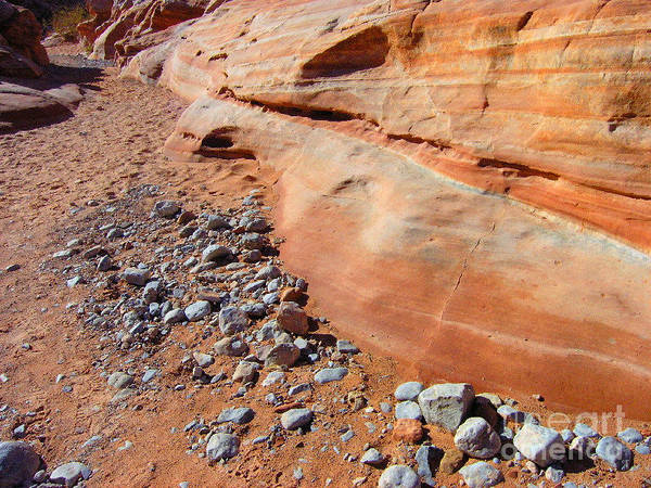 Desert Art Print featuring the photograph Blue Rocks by Silvie Kendall