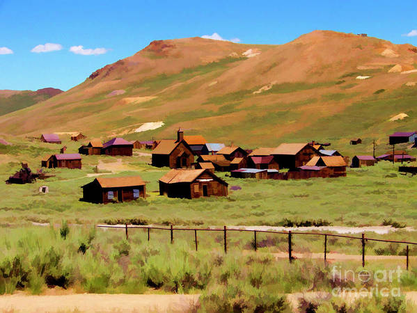 California Art Print featuring the photograph Bodie Paint Photo by Chuck Kuhn