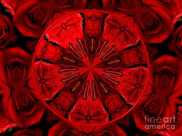 Red Roses Art Print featuring the photograph Bouquet Of Roses Kaleidoscope 6 by Rose Santuci-Sofranko