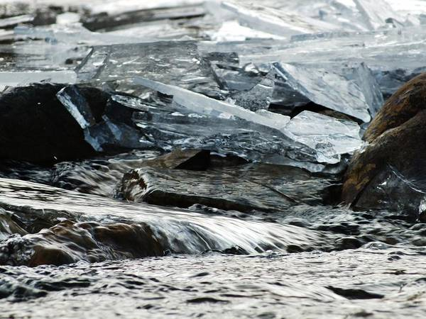 Water Art Print featuring the photograph Breaking Ice by Jennifer Kelley