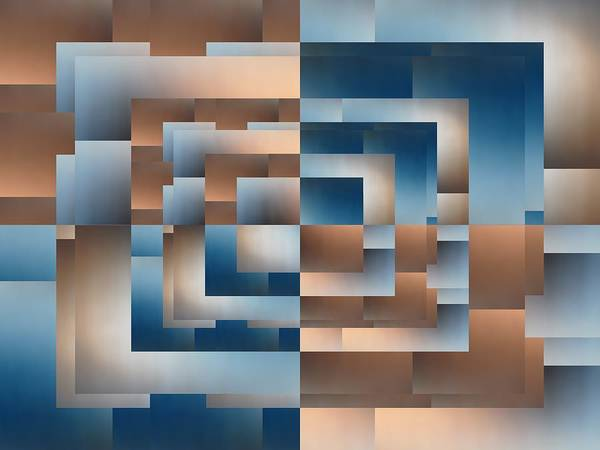 Abstract Art Print featuring the digital art Brushed 12 by Tim Allen