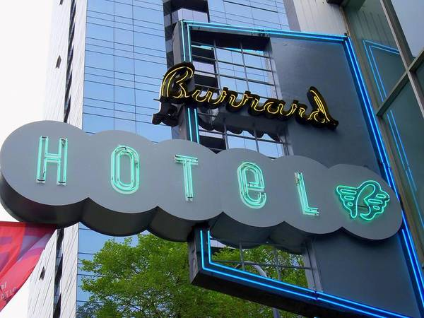 Neon Art Print featuring the photograph Burrard Hotel 1 by Randall Weidner
