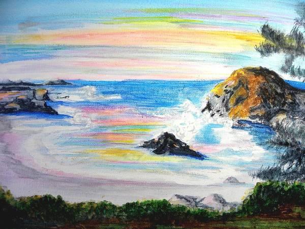California Coast Print featuring the painting California Coast by Susan Clark