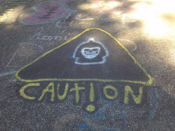 Caution Art Print featuring the photograph Caution by Staci Black