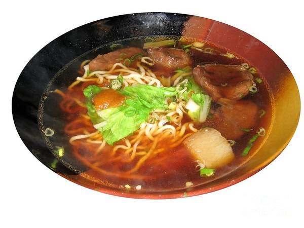 Chinese Art Print featuring the photograph Chinese Beef Noodle Soup by Yali Shi