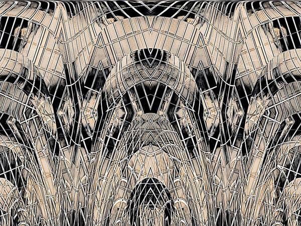 Absract Art Print featuring the digital art Chrome by Tim Allen
