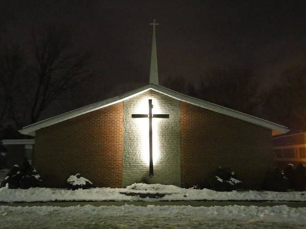 Church Art Print featuring the photograph Church In The Snow by Guy Ricketts
