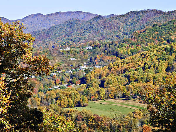 Landscape Art Print featuring the photograph Colorful Autumn Valley by Susan Leggett