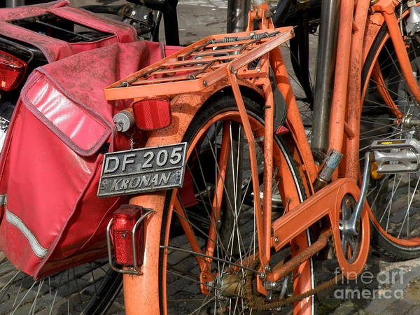 Bikes Art Print featuring the photograph Colorful Dutch Bikes by Lainie Wrightson