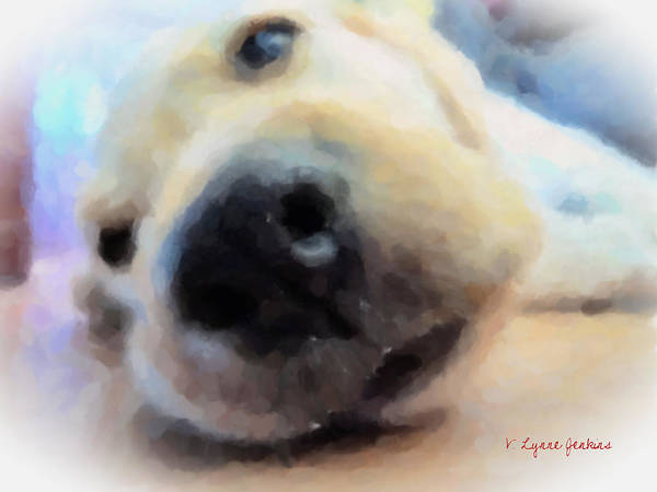 Dog Art Print featuring the painting Contentment by Lynne Jenkins