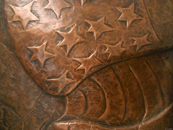 Copper Art Print featuring the photograph Copper Stars by Shan Peck