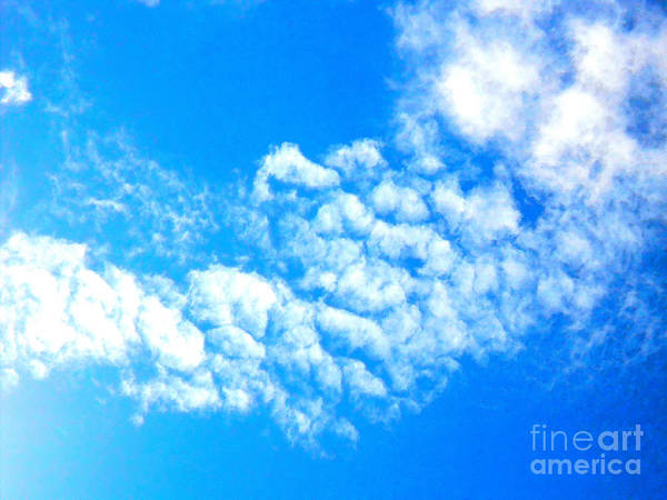 Sky Art Print featuring the photograph Cotton Candy Sky by Kimberly E Klein