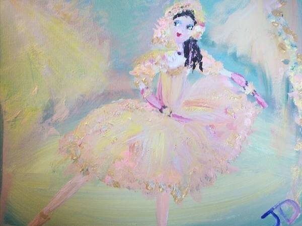 Dance Art Print featuring the painting Dorothy Dancer by Judith Desrosiers
