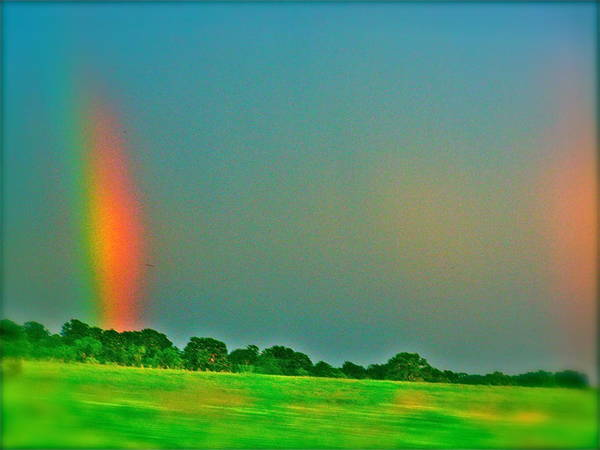 Art Print featuring the photograph Double Rainbow by Amber Hennessey