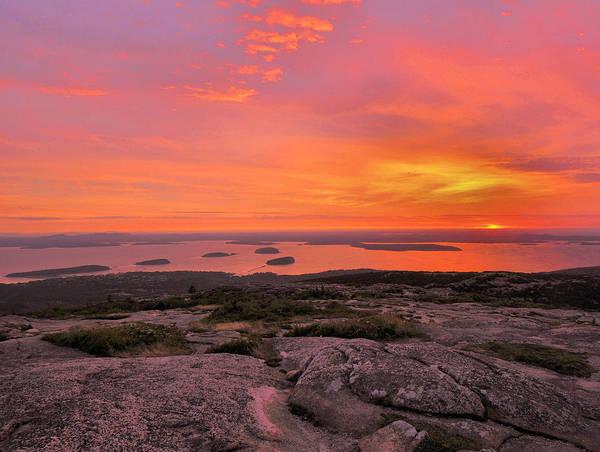Sunrise Art Print featuring the photograph Down East Sunrise by Stephen Vecchiotti