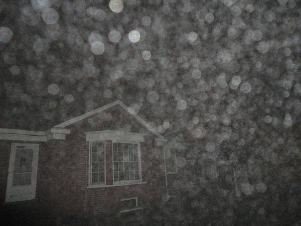 House Art Print featuring the photograph Eerie Spheres In The Night by Guy Ricketts