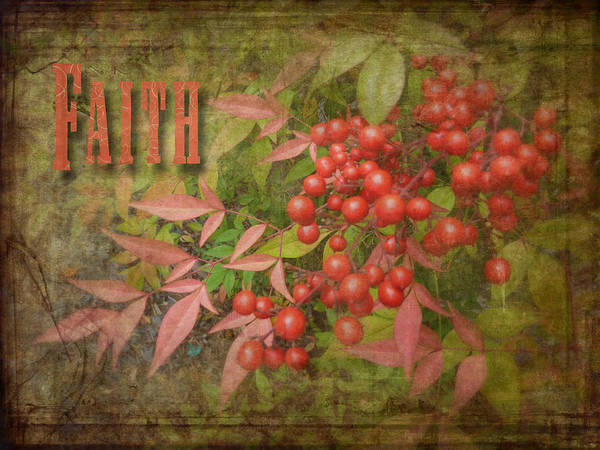 Cindy Art Print featuring the photograph Faith Spring Berries by Cindy Wright