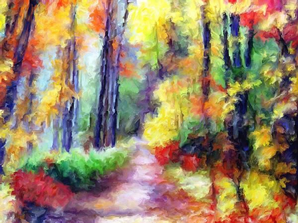 Fall Art Print featuring the mixed media Fall Melody by Marilyn Sholin