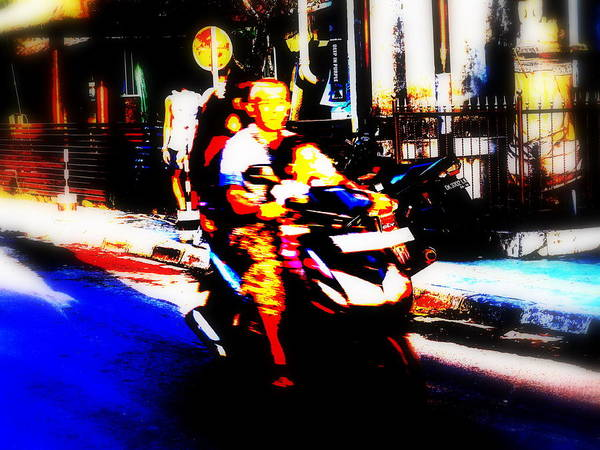 Bali Art Print featuring the photograph Family Ride In Bali by Funkpix Photo Hunter