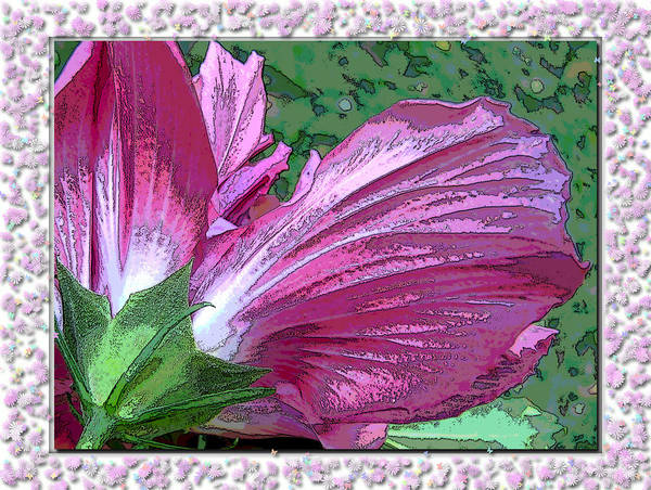 Nature Art Print featuring the digital art Fancy Finish by Debbie Portwood