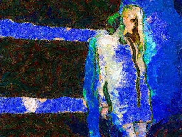 Impressionist Fashion Painting Art Print featuring the painting Fashion 207 by Jacques Silberstein
