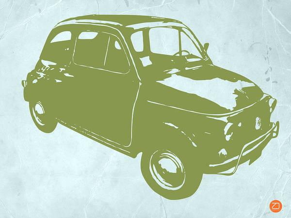 Fiat 500 Art Print featuring the digital art Fiat 500 by Naxart Studio