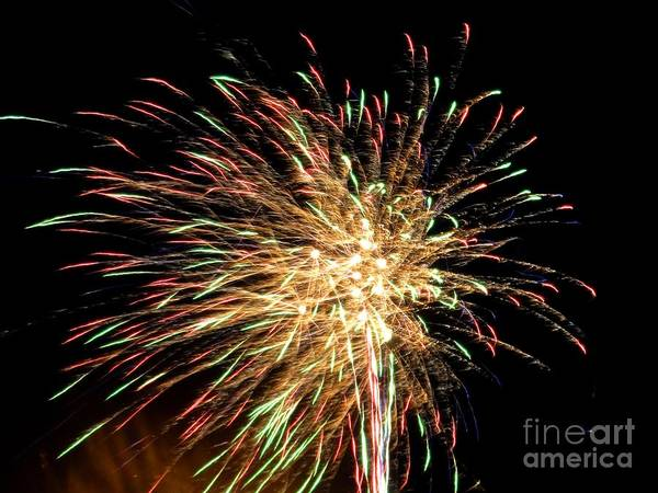 Firework Print featuring the photograph Firework by Meandering Photography