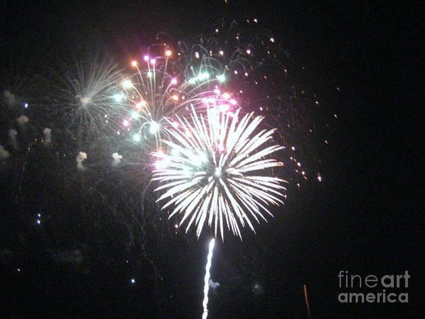 Fireworks Art Print featuring the photograph Fireworks by Dyana Rzentkowski