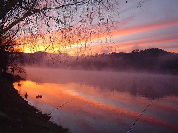Fishing Art Print featuring the photograph Fishing Lake Eildon by Pat Archer
