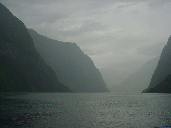 Norway Art Print featuring the photograph Fjord In Norway by Thijs Vrijstaat